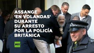 🔴 Momento del arresto de Julian Assange por la Policía británica