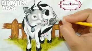 Pintando Vaca estilo realista