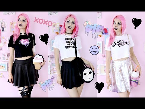 Pastel Goth Summer LookBook / Outfit Ideas 2