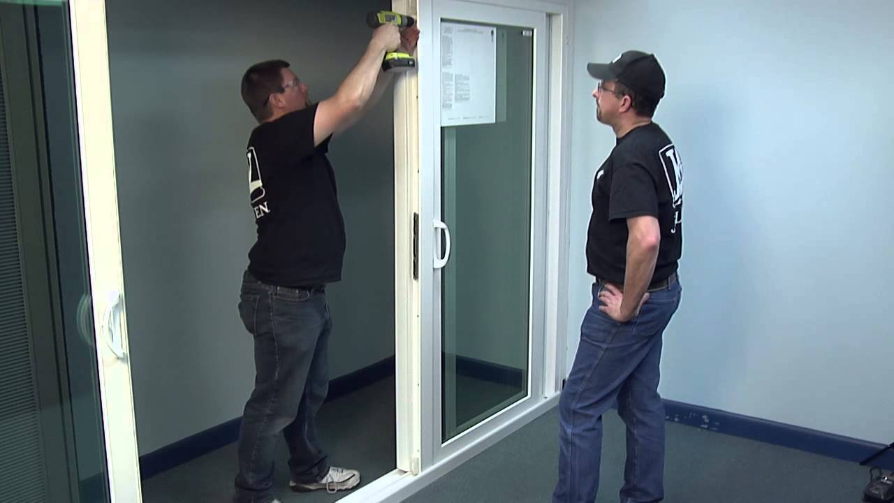 How To Install The Astragal On A Premium Atlantic Vinyl Sliding Patio Door    YouTube