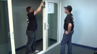 how to install the astragal on a premium atlantic vinyl sliding patio door