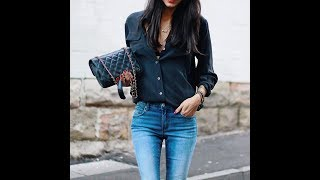 Black shirts outfits with jeans