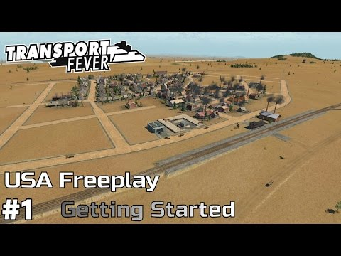 Getting Started [1850] - Transport Fever [USA Freeplay] [ep1]