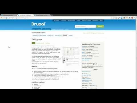 Drupal 7 Field Group Module - Daily Dose of Drupal Episode 6
