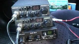 CB Radio. Test anten z podstawą magnesową  i radiotelefonów cb - Alan, Uniden i President .