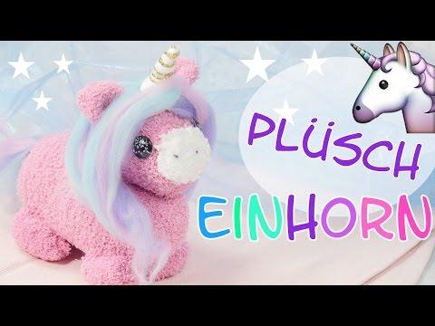 DIY Plüsch Einhorn   Einhorn Kuscheltier selber machen   Kuscheltier nähen 🦄 Unicorn Plush