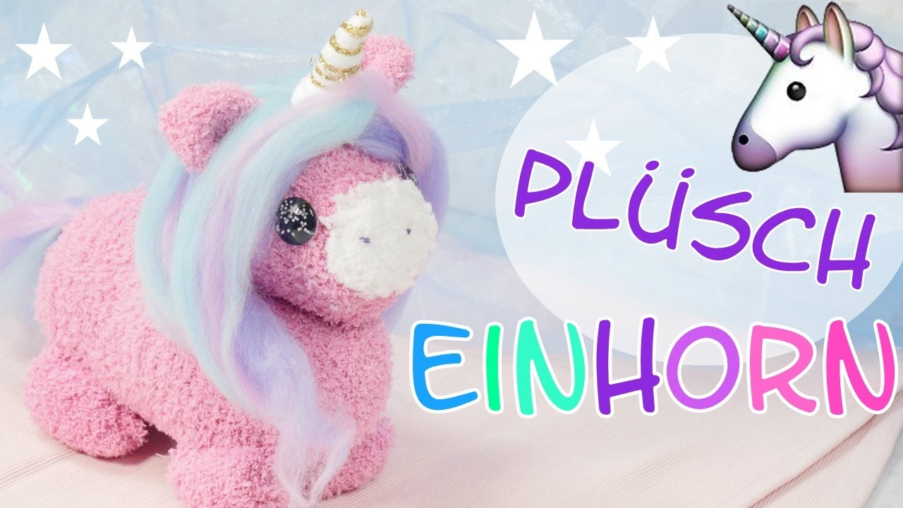 diy pl sch einhorn i einhorn kuscheltier selber machen i kuscheltier n hen i unicorn plush youtube. Black Bedroom Furniture Sets. Home Design Ideas