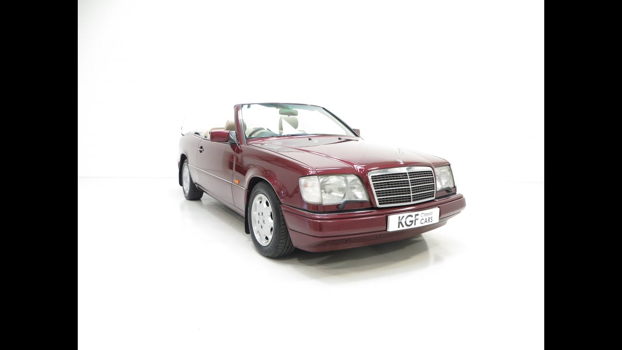 An Indulgent Mercedes Benz W124 E220 Cabriolet with Just Two Owners