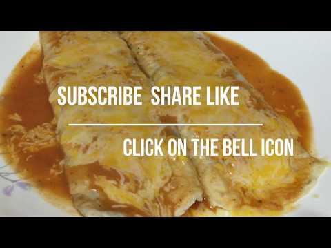 Authentic Mexican Cheese Bean Enchiladas