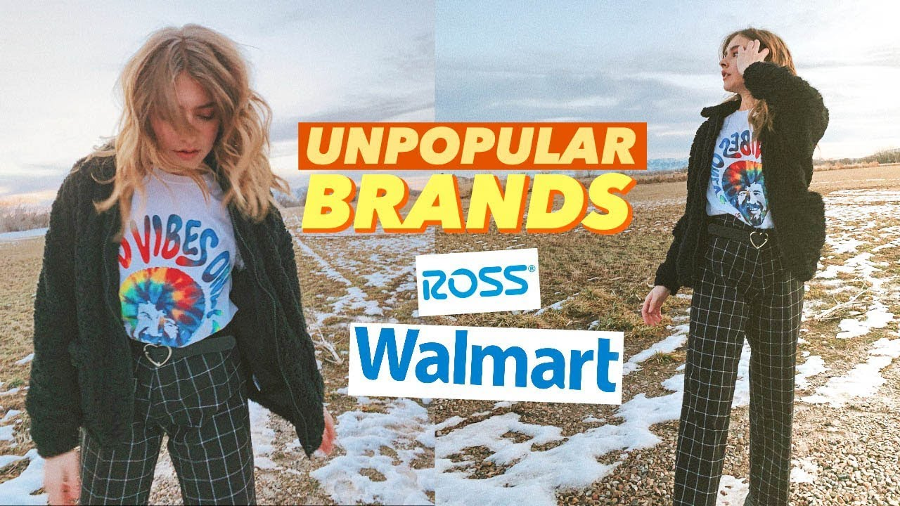 i tried styling unpopular clothing brands