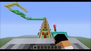 Minecraft - Les Plus Grande Montagnes Russes du MONDE !!! (Speciale 1000 abonnés)