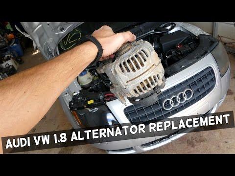 AUDI VW 1.8T How to Replace Alternator Generator demonstrated on AUDI TT