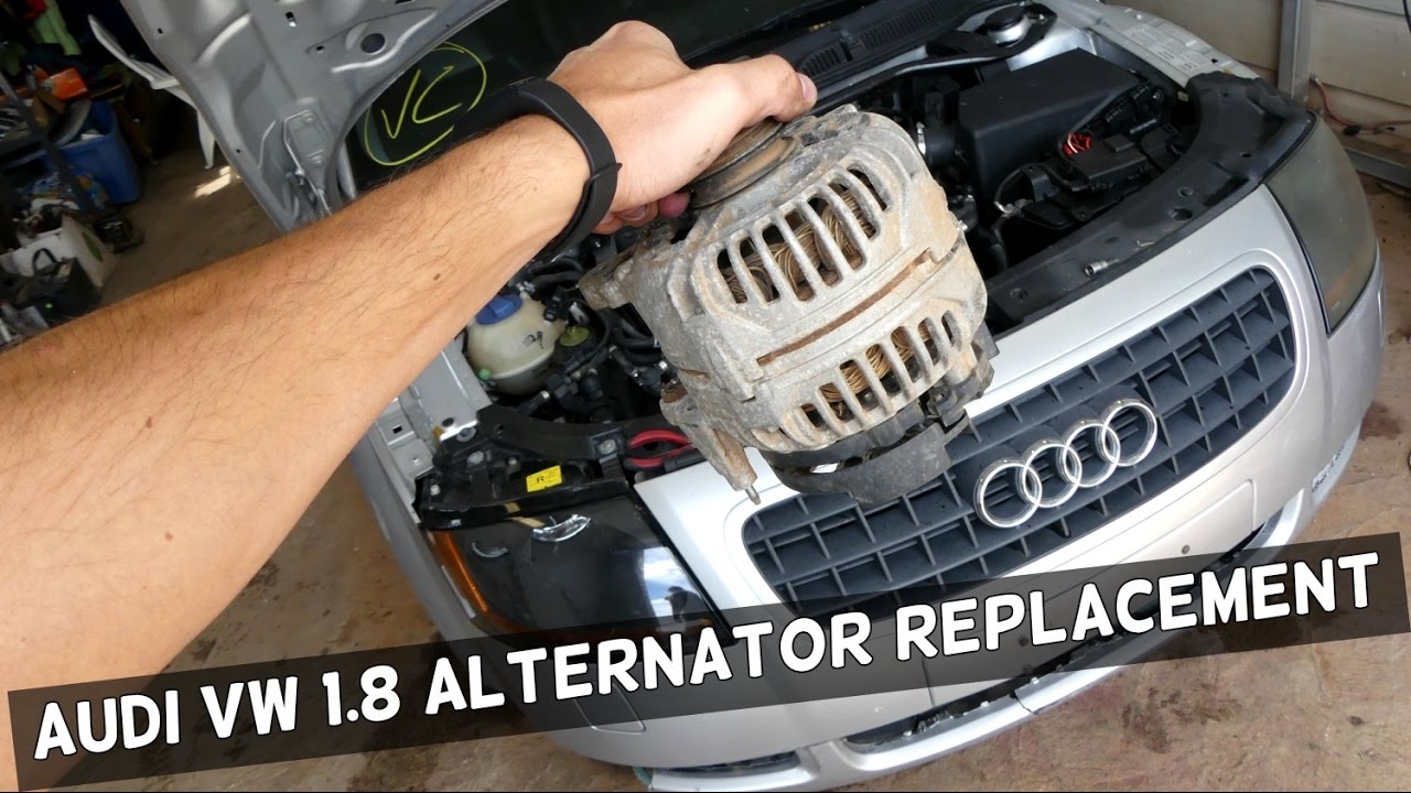 2001 Audi 1 8t Engine Belt Diagram Wiring Will Be A Thing Vw 8 How To Replace Alternator Generator Demonstrated On Rh Youtube Com