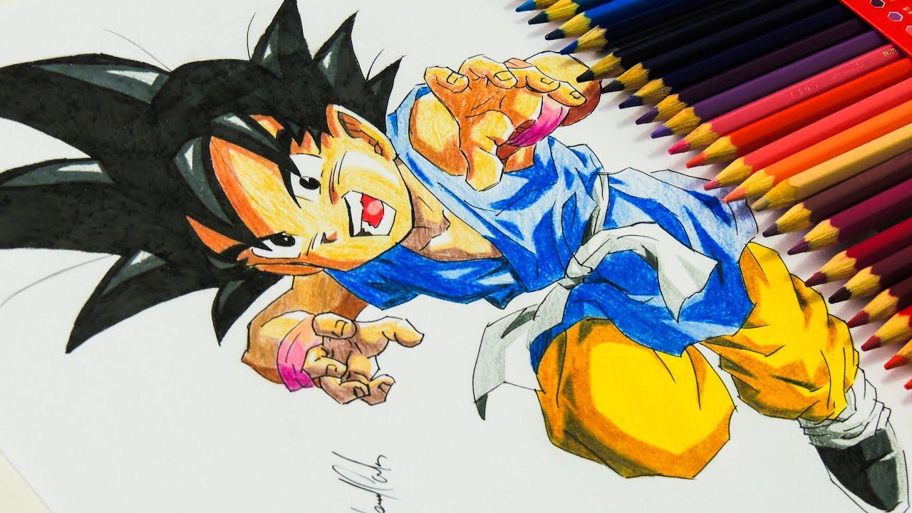 Desenhando O Goku Do Dragon Ball GT: Final
