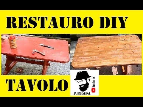 Restauro creativo fai da te tavolo da esterno by paolo for Tavolo da fumo fai da te