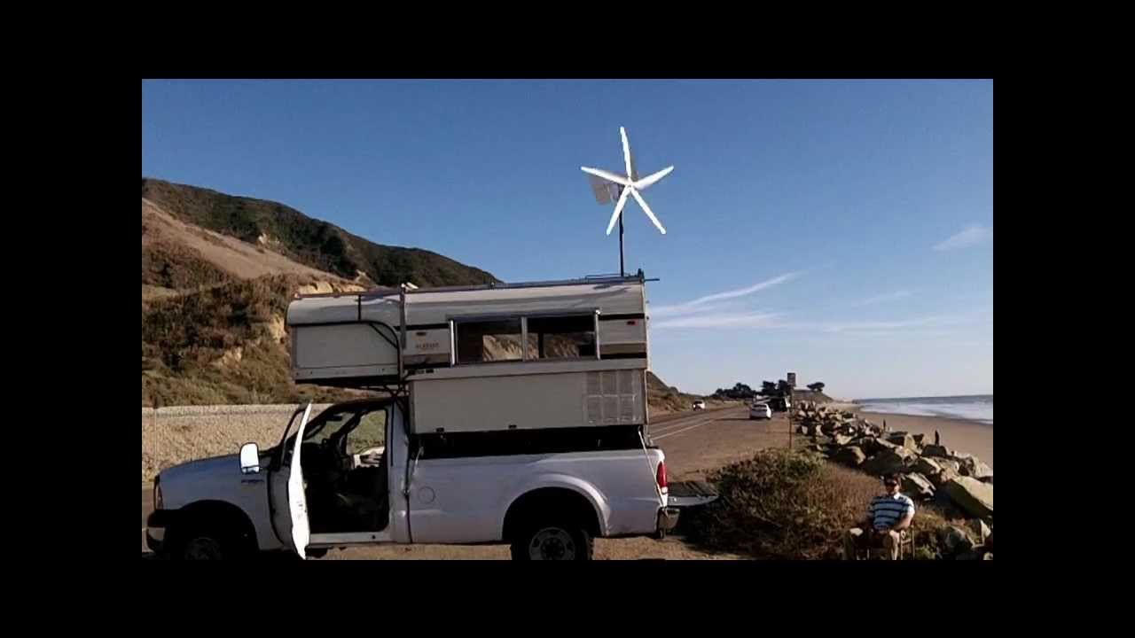 WindyNations Rover Wind Turbine Generator Mounted on Recreational Vehicle RV Camper  YouTube