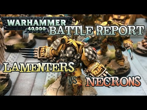 GMG 40k Battle Reports Ep 08 - Lamenters vs. Necrons - 2k Matched Play