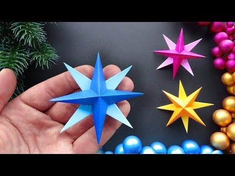 Easy Paper Star for Christmas ⭐ DIY Christmas decorations