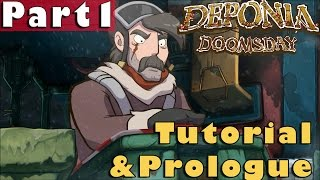 #1| Deponia Doomsday Gameplay Guide | Tutorial & Prologue | PC Full Walkthrough Let