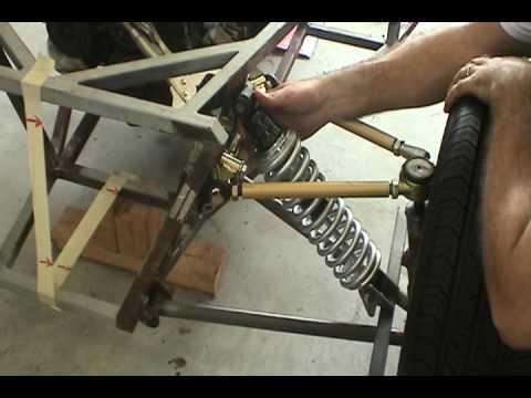 locost adjustable front suspension part 3 of 3 coilover shocks youtube. Black Bedroom Furniture Sets. Home Design Ideas