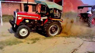 mahindra 275 v/s massey 5245  kali-rAi jatt farm  tractor in vill.. khan-khana
