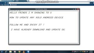 HOW TO SOFTWARE UPDATE ANY XOLO DEVICE 2014