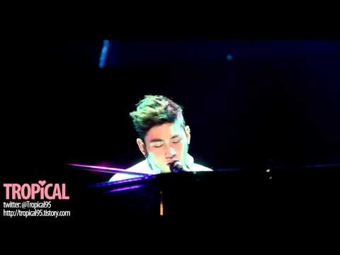 121210 K-POP LOVERS! LIVE - NU'EST Baekho - Happy birthday (with piano)
