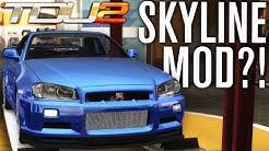 R34 SKYLINE IN TDU2?! | TEST DRIVE UNLIMITED 2 MODS