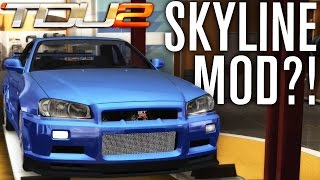 R34 SKYLINE IN TDU2?! | TEST DRIVE UNLIMITED 2 MODS