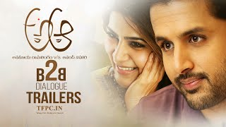 a aa movie back 2 back latest dialogue trailers   nithiin   samantha   anupama   tfpc