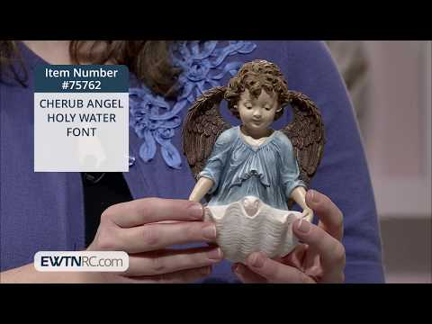 75762_CHERUB ANGEL HOLY WATER FONT