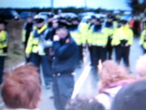 Irish Police Attack Peaceful Protest Against Shell part 1/2