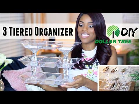 💖 Glam Home 💖 Dollar Tree DIY | 3-Tier Bling Acrylic Organizer