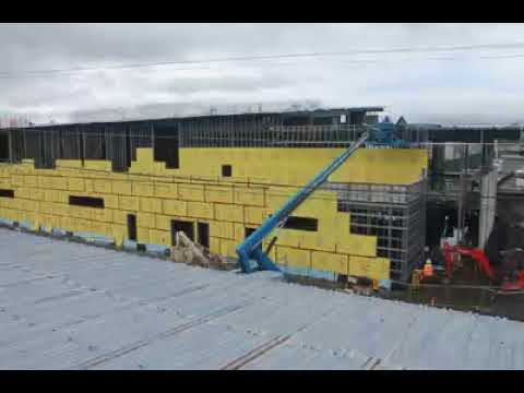 Tearing down the old and building the new Options High School Time Lapse in 2016-17