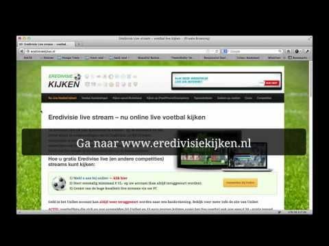 Livestream eredivisie - live voetbal kijken (instructies)