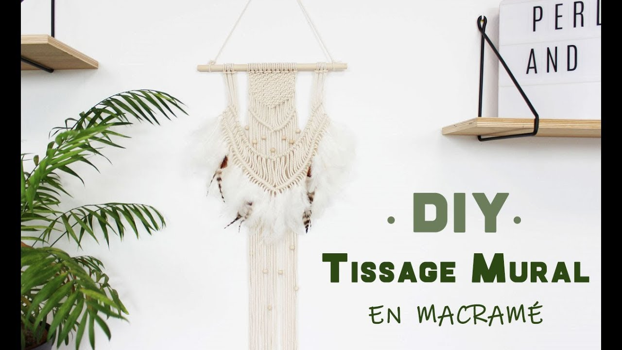 tuto diy macrame comment r aliser un tissage mural en. Black Bedroom Furniture Sets. Home Design Ideas