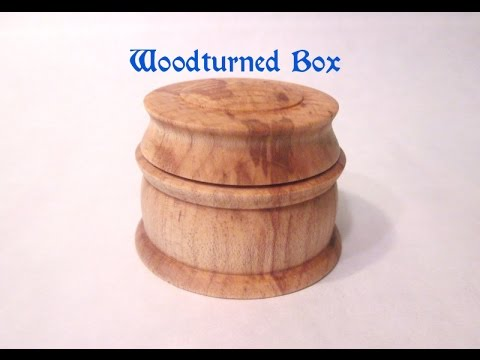 Woodturning   Maple Box