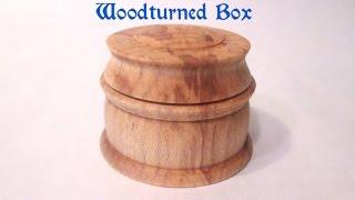 Woodturning   Maple Box