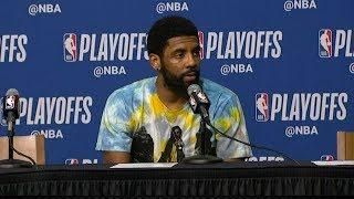 Kyrie Irving Postgame Interview - Game 3 | Bucks vs Celtics | 2019 NBA Playoffs