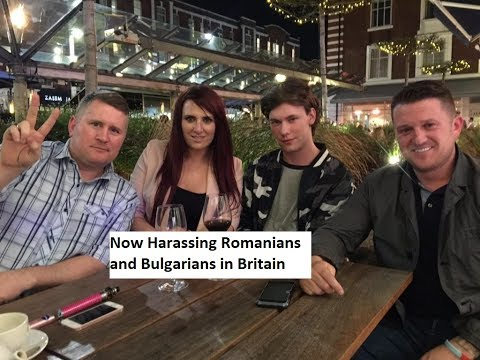 Tommy Robinson's Friend Caught Harassing Bulgarians and Romanians in Ballymena