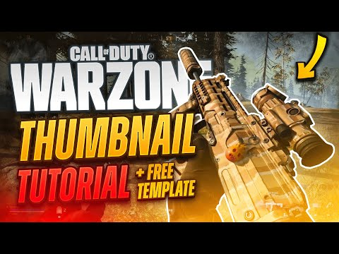COD Warzone Thumbnail Tutorial (+FREE TEMPLATE!!) - Tutorial By EdwardDZN