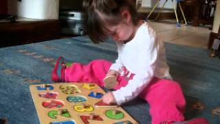 Wooden Peg Puzzle - Numbers & Shapes