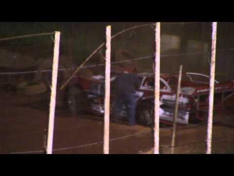 Chad Puckett Crash at Winder Barrow Speedway 4/23/16