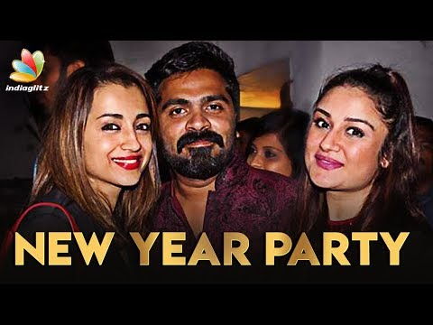 Simbu's Party Night Celebrations | Trisha, Sonia Agarwal & STR | New Year 2018