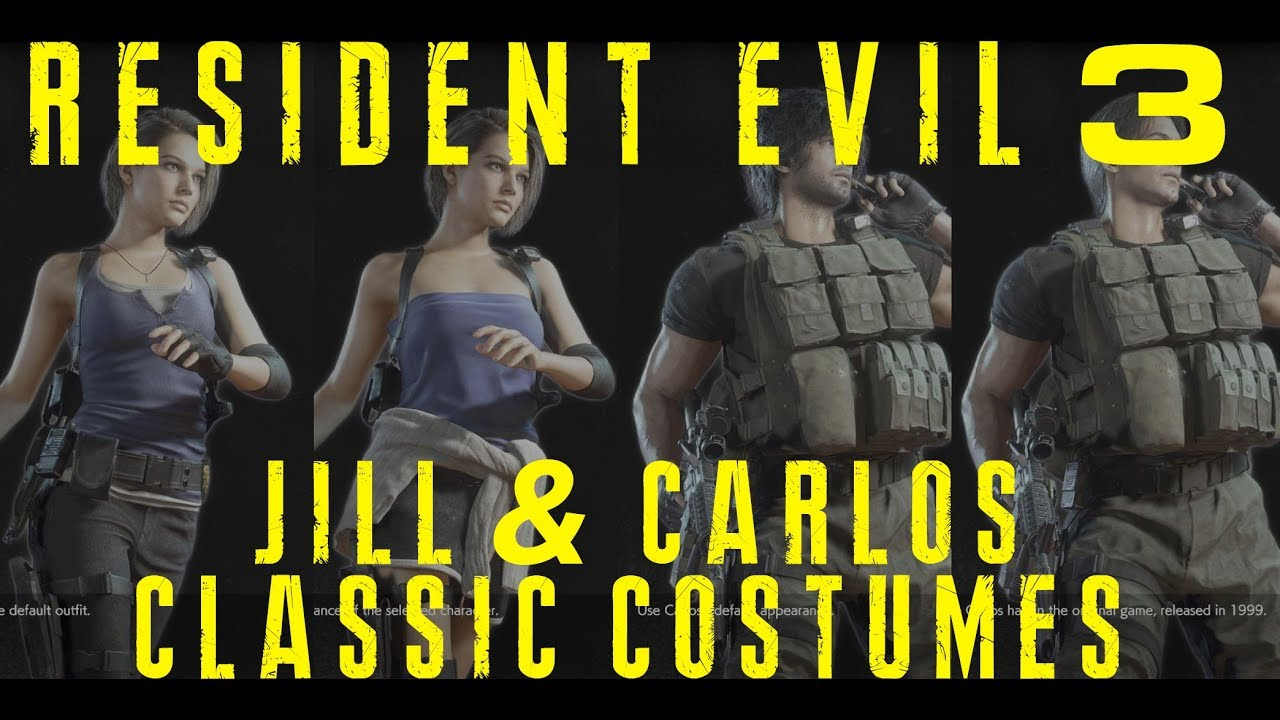 Re3 Jill Valentine And Carlos Oliveira Models In Re3 Classic