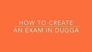 Dugga bir sınav oluşturma
