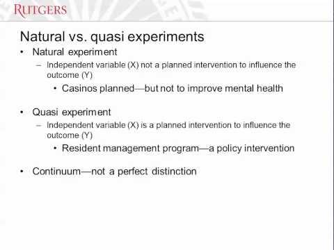Natural and Quasi Experiments (Part 1)