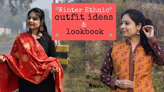 Indian Ethnic Winter Outfit Ideas | Ethnic Winter Wear Lookbook | Shawls Suit Cardigan | Chirpy Tube