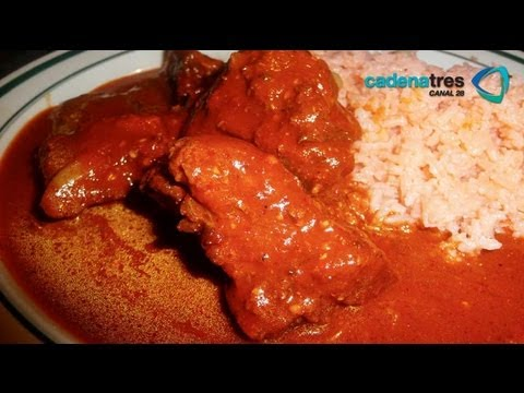 Receta de costillitas con salsa de chiles receta f cil de for Cocinar berenjenas facil