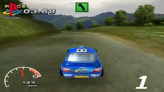 WRC: FIA World Rally Championship Arcade (PS1 Gameplay)